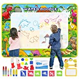 GoZheec Agua Dibujo Pintura, 160*120cm Alfombra de Agua Mágico Doodle con Paquete de Transporte y Herramienta de Sello de Rodillo, Regalo de cumpleaños, Juguete Educativo para niños y bebés